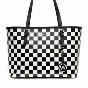 Michael Kors Small Jet Set Checkered tote